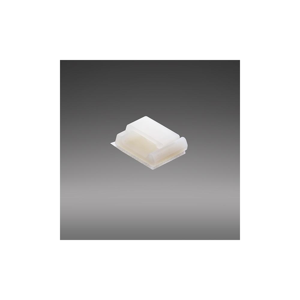 Kabelhalter mit seitlicher Öffnung und Klebesockel