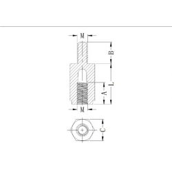 Sechskant-Abstandshalter