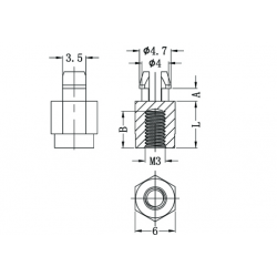 Metric Threaded Circuit Board Support