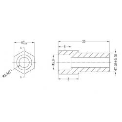 Abstandshalter Rund/Hexagonal